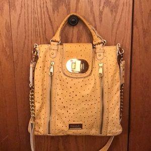 Badgley Mischka   Ostrich Leather Handbag